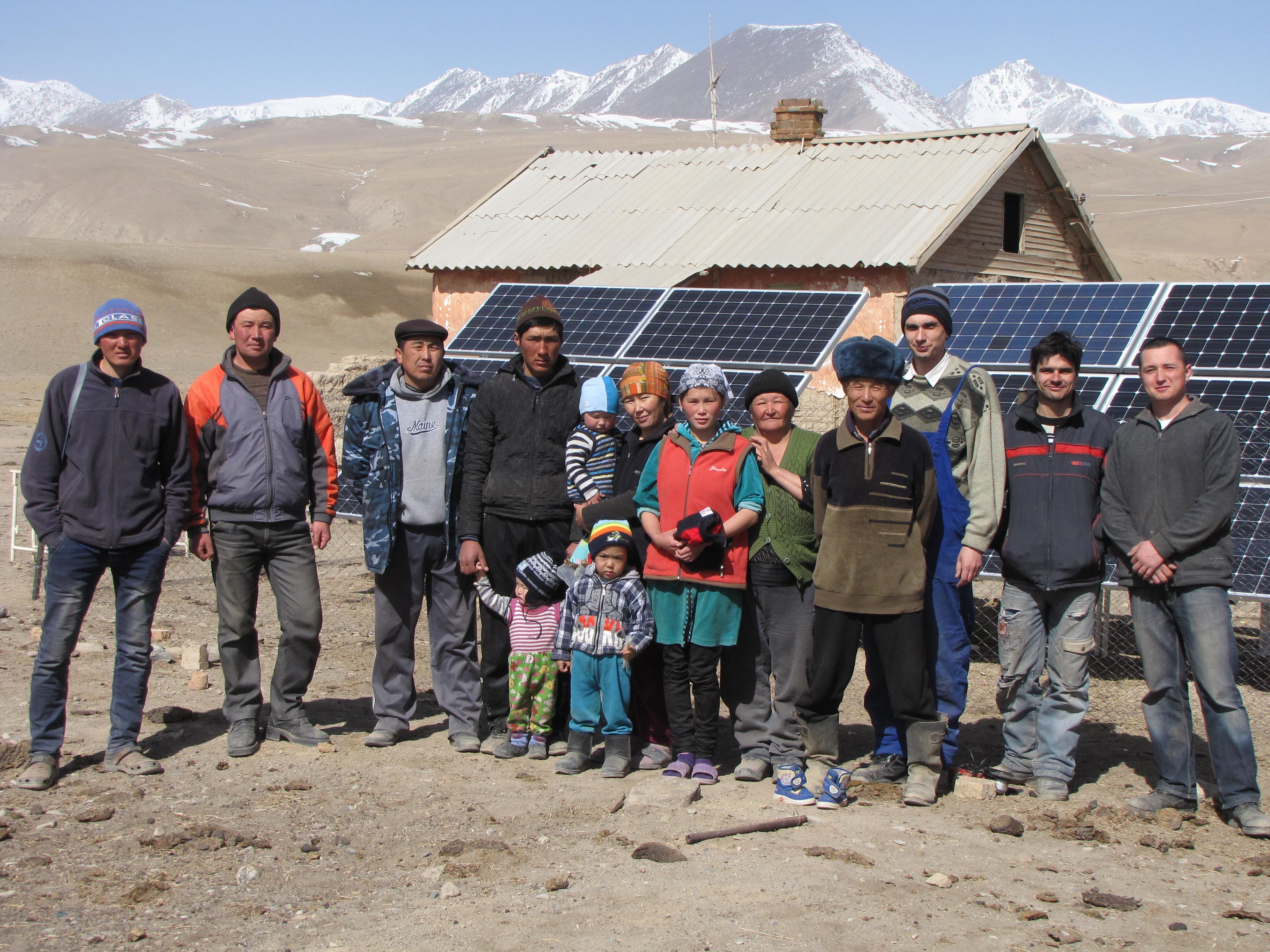 3 КВт фотоэлектрическая станция в Барскооне, Кыргызстан